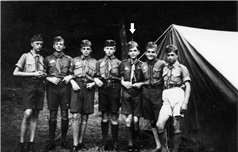 Father Jaki as a boy Scout (1940)