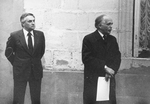 1980 – Bordeaux – France – Dedication of a plaque in Rue Pierre Duhem, on the wall of the house Duhem lived in