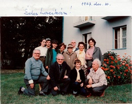 1987 – Győr – Hungary – The Jaki family