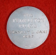 The medal that comes with the Templeton Prize