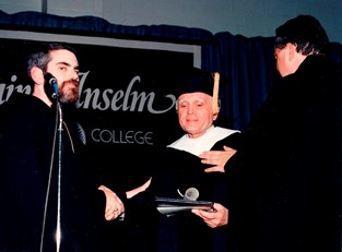 1988 – Manchester, NH – Laurea honoris causa from the Saint Anselm College