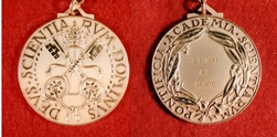 1990 – The Medal of the Pontifical Academy of Sciences