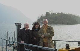 2006 – Ossuccio (Lake of Como) – With friends Gabriella and Gabriele Basilico