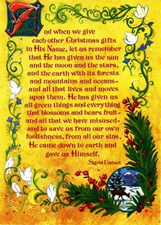 2007 – The text of Sigrid Undset used by Father Jaki for the Christmas greetings