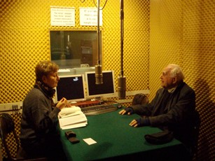 2007 – Varese, Italy – Being interviewed by Miria Grossi for Radio Missione Francescana