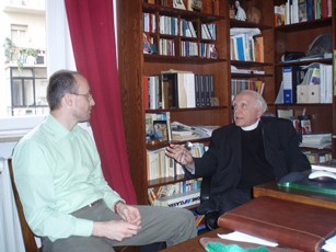 2007 – Verona, Italy – With Giovanni Zenone, Director of the Fede & Cultura Catholic publishing house
