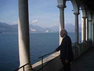 2008 – Lake Maggiore, Italy – At the Santa Caterina del Sasso hermitage, overlooking the lake