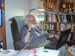 2008 – Lawrenceville, KY – Father Jaki in his flat, in working position