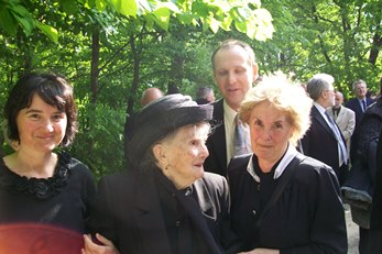 Fr Jaki's sister, niece and other relatives at the funeral