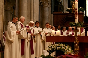 During the consecration