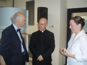 Jacques Vauthier, Father Rafael Pascual and Magdalen Ross