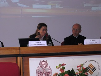 Lucía Guerra Menéndez and Father Rafael Pascual