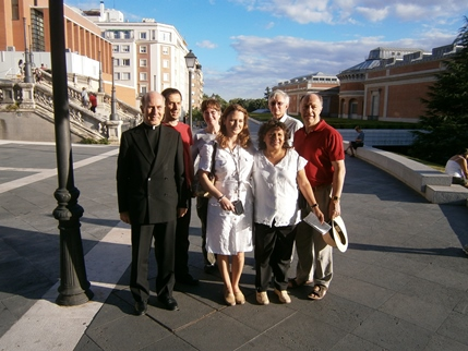 A group of participants near the Prado Museum
