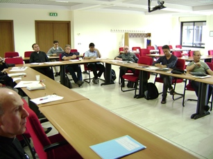 A view of the room in which the Summer Course was held