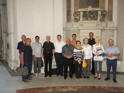 Picture of participants, during the excursion to Santa Maria degli Angeli, to see the meridian line