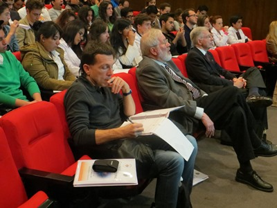 A view of the people attending the Conference. In foreground Alessandro Giostra, William Carroll and Rafael Vicuña.
