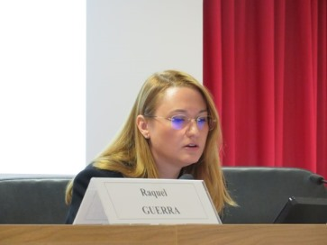 Lucía Guerra Menéndez during his intervention about Anthropological Foundations of Bioetichs.