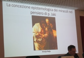 Don Hrvoje Relja, at the beginning of his presentation about The epistemological conception of miracles in the thought of Fr Jaki.