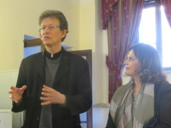 Fr Paul Haffner (Gregorian University and Seton Hall University) during his speech. At his side Ines. A. Murzaku (Professor of Ecclesiastical History and Director of Catholic Studies at Seton Hall University) who introduced the ceremony remembering the legacy of Fr Jaki at Seton Hall.